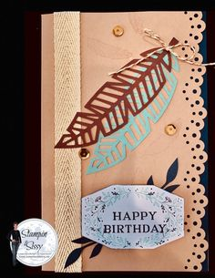 Demonstrator business web site (DBWS) for Stampin' Up! products, project ideas, and current promotions. Order Stampin' Up! product online from me anytime and see my projects and events. Independent demonstrator and creative coach. Romantic Birthday Cards, Masculine Birthday Cards, Feather Cards, Happy Birthday Cupcakes, Panda Birthday, Stampin Up Paper Pumpkin, October Birthday, Little Mermaid Birthday, Card Patterns