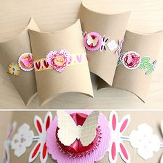 Embellish paper mâché boxes with stamps and collage #giftwrap