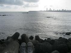 Marine Drive, Mumbai  #Converse ;)