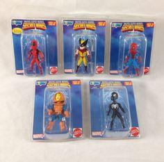 Full Set of 5 Micro Bobblehead Figures 2015 Gentle Giant Marvel Hero Secret Wars #GentleGiant