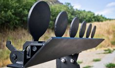 """Steel Target Plate Rack 