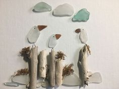 Meeting at the Pier! Sea glass and driftwood #seaglassideas #seaglassart