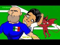SUAREZ BITE on Chiellini - Italy v Uruguay by 442oons 0-1 (World Cup Cartoon 24.6.14)