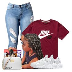 """Untitled #1065"" by bubblesthegr8t ❤ liked on Polyvore featuring NIKE"