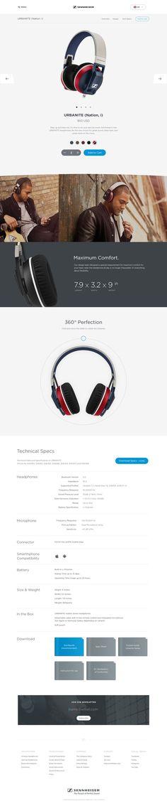 Sennheiser Product Page by Budi Tanrim