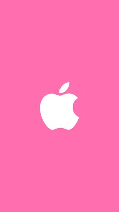 White Apple Pink Background iPhone 5 Wallpaper