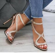 074a9abab251 31 Best Silver sandals images