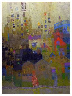 Mark English - Contemporary Artist - Abstract Town 29