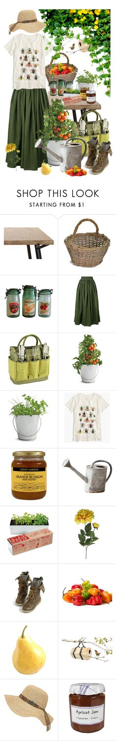 """Gardening"" by nika105 ❤ liked on Polyvore featuring Garden Trading, Aspesi, Picnic at Ascot, Potting Shed Creations, J.Crew, I Love Mel and Frontgate"