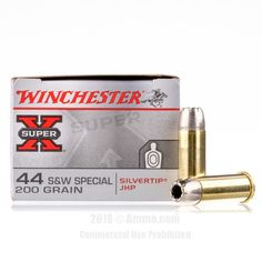 Winchester 44 S&W Special Ammo - 20 Rounds of 200 Grain JHP Ammunition #44Special #44SpecialAmmo #Winchester #WinchesterAmmo #Winchester44Special #JHP