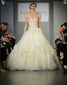 Sweetheart A-line wedding gown from Ines di Santo - Spring/Summer 2014