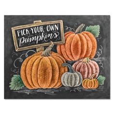 Lily & Val – Fall Pumpkin Patch - Pumpkin Wall Art - Pumpkin Print - Fall Decor - Chalkboard Art - Autumn Art - Hand Lettering