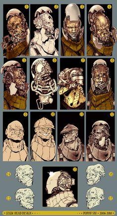 Concept for personal project - Popov-SM Game Concept, Character Concept, Character Art, Concept Art, Character Design, Cg Art, Fantasy Armor, Face Design, Designs To Draw
