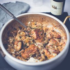 An earthy, nutty chicken dish to die for This chicken with porcini & chestnut mushrooms dish is great for a midweek meal or a tasty weekend supper. PREP TIME:10 minsCOOKING TIME:45 mins – 1 hr DIFFICULTY:easyIDEAL FOR:one-pot meal, family, crowd-pleaserBUDGET:£ WINEPAIRING TIP:Suzie (Michael Sutton's Cellar) suggested two lovely reds to go with this dish. The Montepulciano D'Abruzzo Cantina Danese is a smooth rich Italian and has hints of plum and sour c Mushroom Dish, Mushroom Chicken, Porcini Mushrooms, Stuffed Mushrooms, Diced Potatoes, Midweek Meals, Kitchen Corner, One Pot Meals, Casserole Dishes