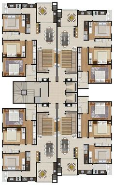 Plan Hotel, Hotel Floor Plan, Residential Building Plan, Architecture Building Design, House Plans Mansion, New House Plans, Model House Plan, Home Design Floor Plans, Apartment Floor Plans
