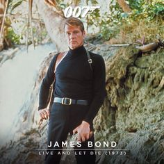 LIVE AND LET DIE is Roger Moore's first outing as James Bond, on the trail of drugs kingpin Kananga. James Bond Actors, James Bond Books, James Bond Movies, George Lazenby, Extraordinary Gentlemen, James Bond Style, Timothy Dalton, Pierce Brosnan, Roger Moore