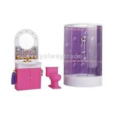Barbie Dollhouse Bathroom Furniture With Shower Play Sets Kids Great Gift
