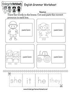 36 Best kindergarten english worksheets images ...