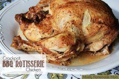 Mostly Homemade Mom: Crockpot BBQ Rotisserie Chicken