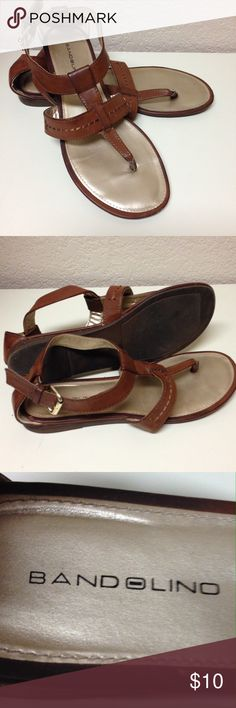 Tan sandals Gently used brown sandals in great condition;) Bandolino Shoes Sandals