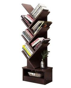 The tree shaped Bookcase comes with couples of triangle branch with a mutil display unit. It can be placed in the corner and confirms to Geometry Desi added onto home furniture. Book Case, Book rack via Repurposed Furniture, Cool Furniture, Painted Furniture, Office Furniture, Furniture Ideas, Furniture Shopping, Furniture Websites, Colorful Furniture, Furniture Layout
