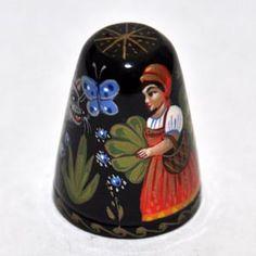 dedal de recuerdos, Rusia, Mstera / Rusia, papel maché, historia, cuento de hadas Caperucita Roja