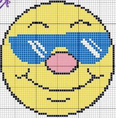 Smile al sole Cross Stitch Pillow, Cross Stitch Borders, Cross Stitch Charts, Cross Stitch Designs, Cross Stitching, Cross Stitch Patterns, Plastic Canvas Crafts, Plastic Canvas Patterns, Bobble Stitch