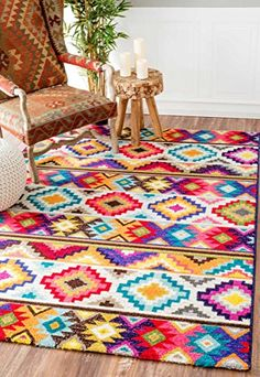 nuLOOM Retro Tribal Diamonds Multi Kids Rug x - 17731397 - Overstock - Great Deals on Nuloom - Rugs - Mobile Contemporary Rugs, Modern Rugs, Modern Decor, Boho Home, Rugs Usa, Geometric Rug, Tribal Rug, Patterned Carpet, Retro Home Decor