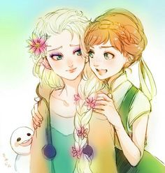 Frozen - Queen Elsa x Princess Anna - Elsanna Disney Au, Disney Dream, Cute Disney, Disney And Dreamworks, Frozen Movie, Elsa Frozen, Disney Frozen, Frozen Anime, Frozen Queen