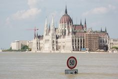 A view of Budapest, Hungary on June 9, 2013, after the Danube River hit a record high water mark.