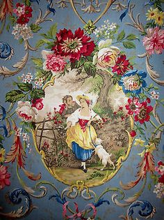 Richloom-Fragonard-Blue-Cameo-French-Country-Chic-Toile-Fabric-Romantic-Roses