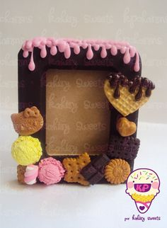 Ohhhhhh!! That's adorable!! And such a good idea, old frames, add on clay, birthday presents?? Awesome!!