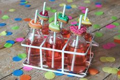 #Summer cocktails complete with tropical fruit biscuit toppers! Perfect for summer bbq's and parties! Take a look at our recipe...