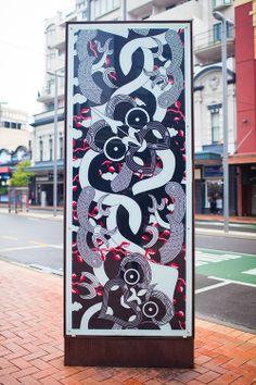 Te Paepae nui o Te Taranaki Whanui ki te Upoko ki te Ika - Maori design by Johnson Witehira