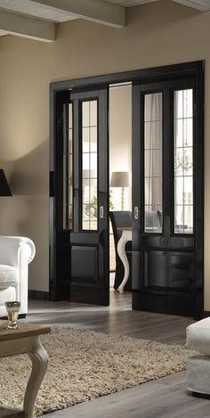 Zwarte deurenL mooi!