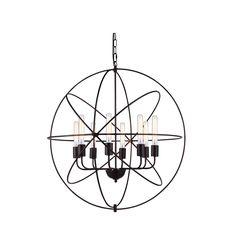 "Elegant Lighting 1453D32DB Vienna Collection Pendant Lamp D:32"""" H:33"""" Dark Bronze Finish"