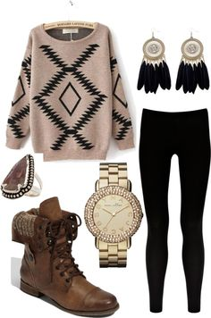 """indian autumn"" Loving these boots and sweater!!"