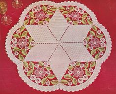 476 PDF 1950's Summer Garland Crochet Pattern, Round Doily Pattern Crocheted, PDF Download Vintage 1950's