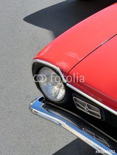 Roter Ford Maverick Sportwagen der Siebziger Jahre in Wettenberg Krofdorf-Gleiberg
