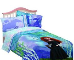 Disney Brave Princess Merida bedding and bedroom decor ideas for girls themed bedrooms.