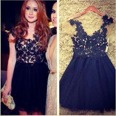 Vestido De Festa 2014 New Fashion Black Lace Crochet Pleated Ball Gown Women Mini Dress Casual Vestidos Femininos Free Shipping
