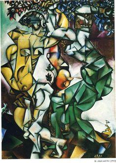 Marc Chagall. Adam y Eva, 1912. Óleo sobre lienzo. Saint Louis Art Museum, San Luis. WikiPaintings.org - the encyclopedia of painting