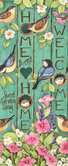 """Home Tweet Home"" 4' Art Pole - Thumbnail 1"
