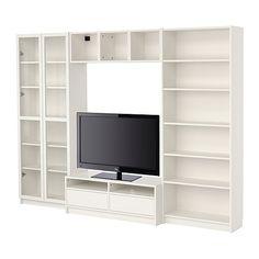 BILLY Combinación librerías con mueble TV IKEA