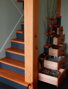 Concealed Storage - Chest Stairs Reveal a Clever Use of Every Nook and Cranny