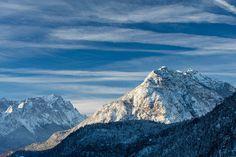 Wolkenstimmung über dem Kramer und der Zugspitze