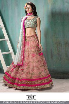 SFH Indian Bollywood Sari Designer Lehenga Choli Party Saree Festival 1532…