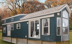 The Country Classic 8-1/2 foot wide park trailer offers an economic choice of aluminum siding and rubber roof, or is also available with low maintenance vinyl siding, shingled roof and double loft. Both are available with bedroom and living room slide outs.