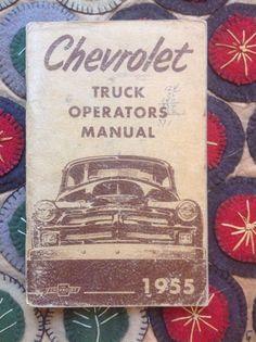 Chevrolet Truck Operators Manual 1955  | eBay