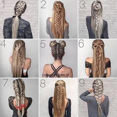 20 Beautiful braided hairstyles for women that affect men New Site - Flechtfrisuren Girl Hairstyles, Braided Hairstyles, Pretty Hairstyles, Asian Hairstyles, Hairstyle Short, Quick Easy Hairstyles, Model Hairstyles, Cute Hairstyles For School, Hairstyles 2018